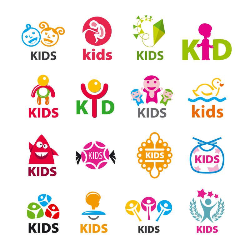 儿童主题矢量商标