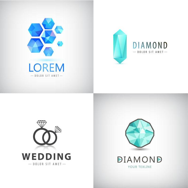 矢量珠宝商标设计