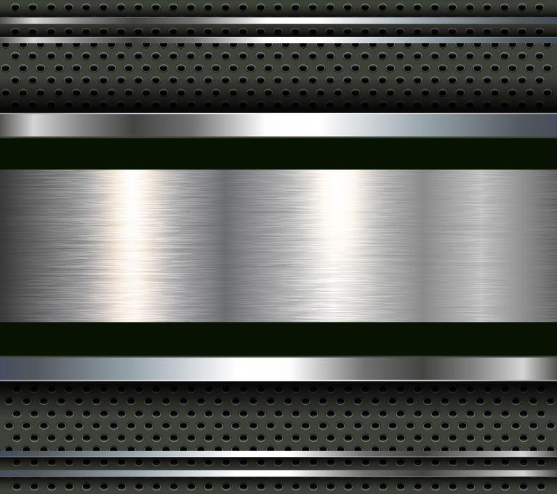 矢量的金属质感背景