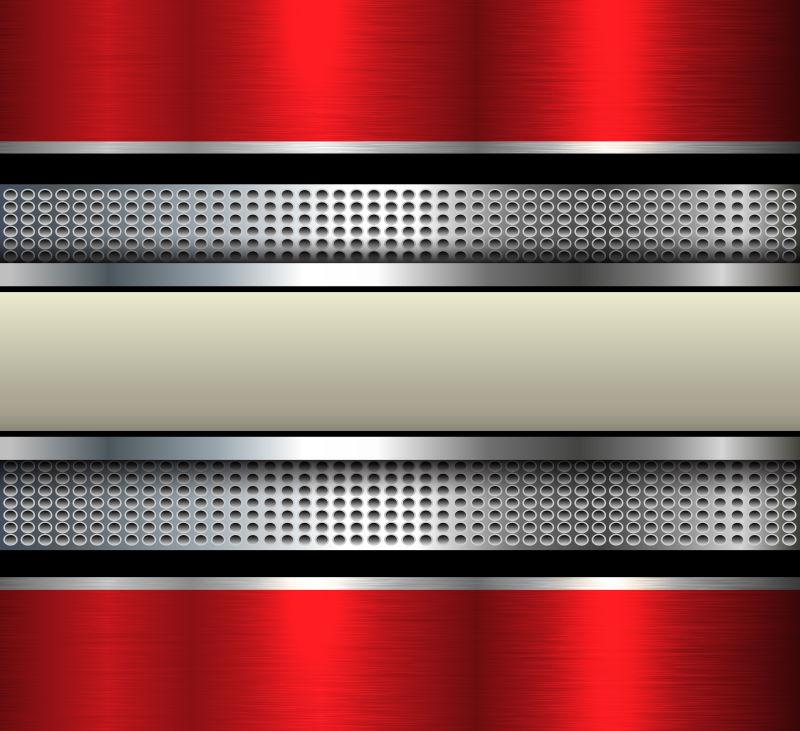 矢量的红色条纹背景