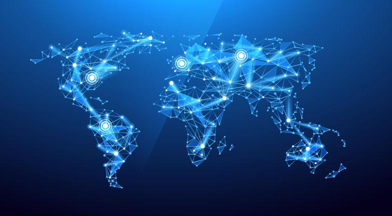 全球通信矢量概念背景