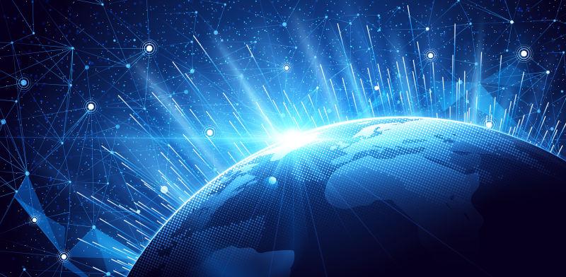 全球网络矢量抽象背景