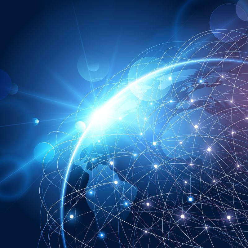 抽象的全球网络通信概念矢量背景