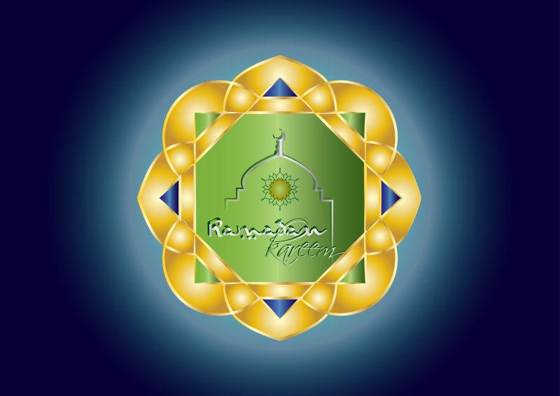 矢量的伊斯兰教节日主题花纹