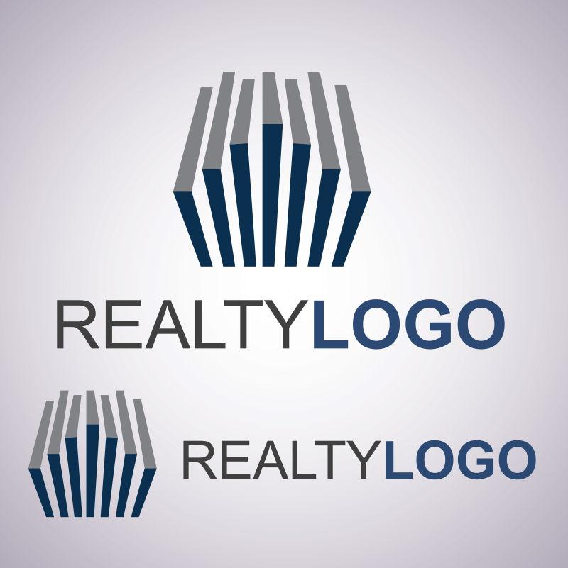 抽象的房地产矢量logo模板