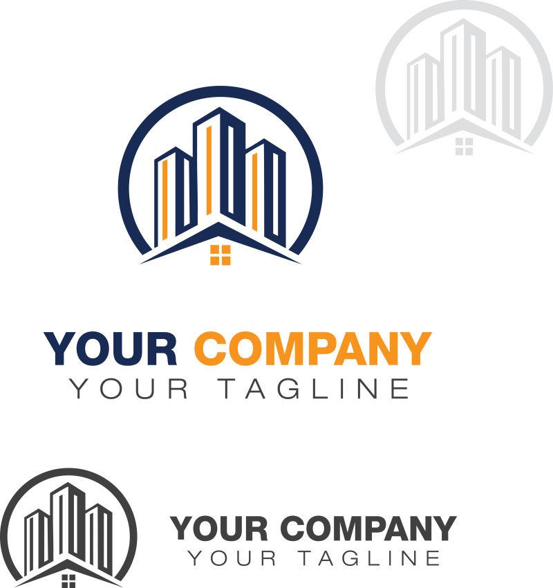 房地产矢量logo模板