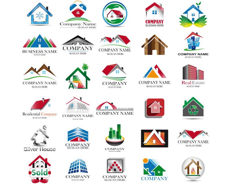 矢量房地产logo模板