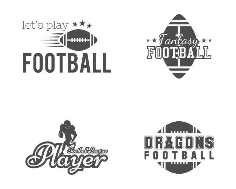 美式足球队矢量创意图标设计