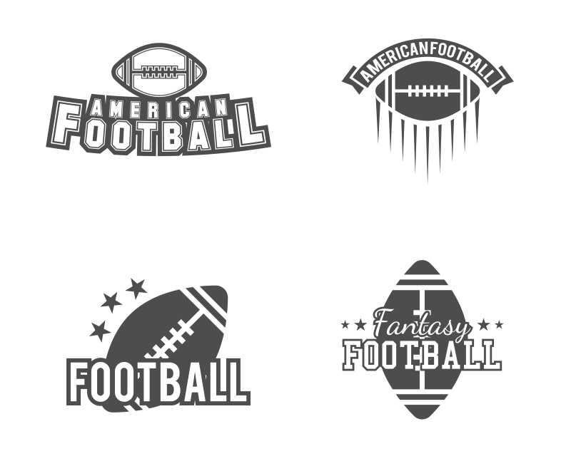 美式足球队创意图标设计矢量图