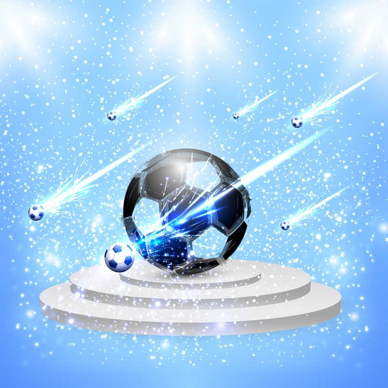 足球形状的流星矢量背景
