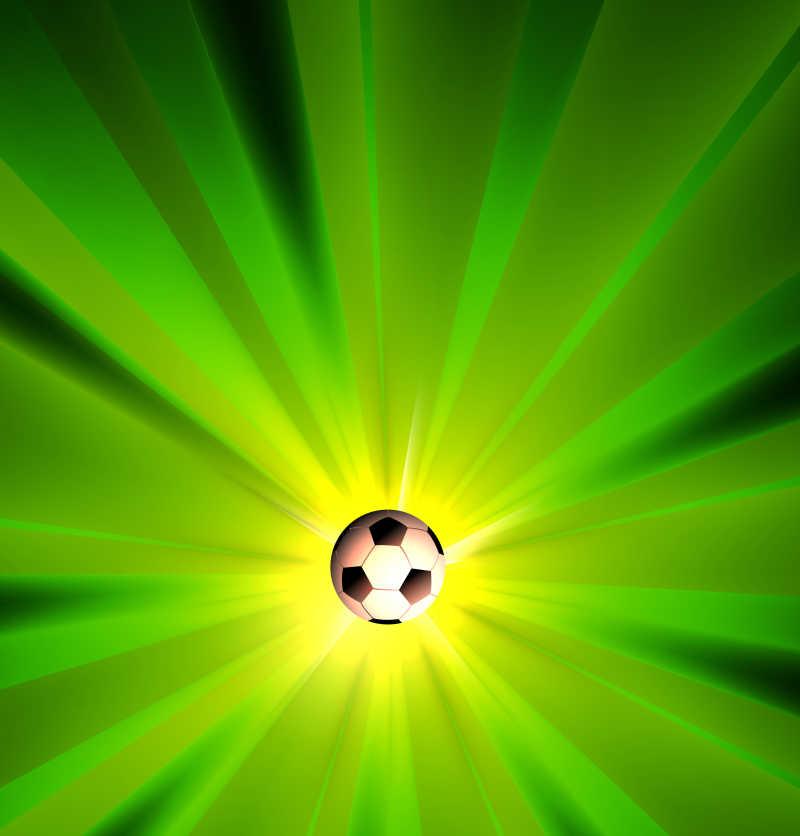 运动效果的矢量足球背景