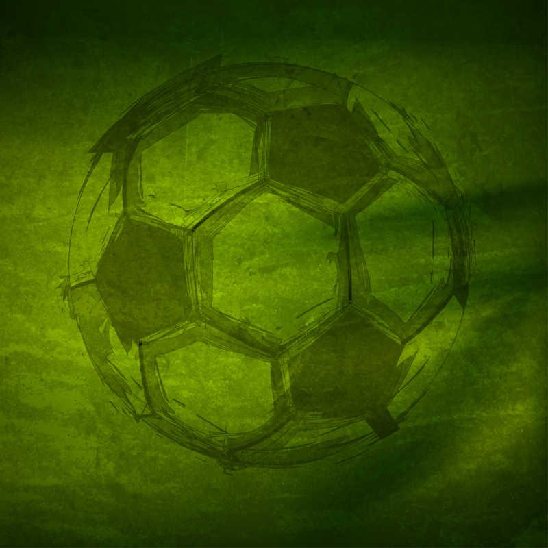 矢量的手绘风格足球
