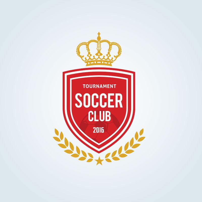 红色足球俱乐部徽章设计