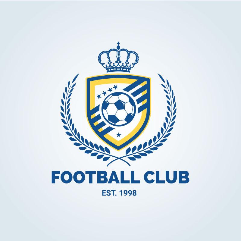 创意矢量足球俱乐部的徽章设计
