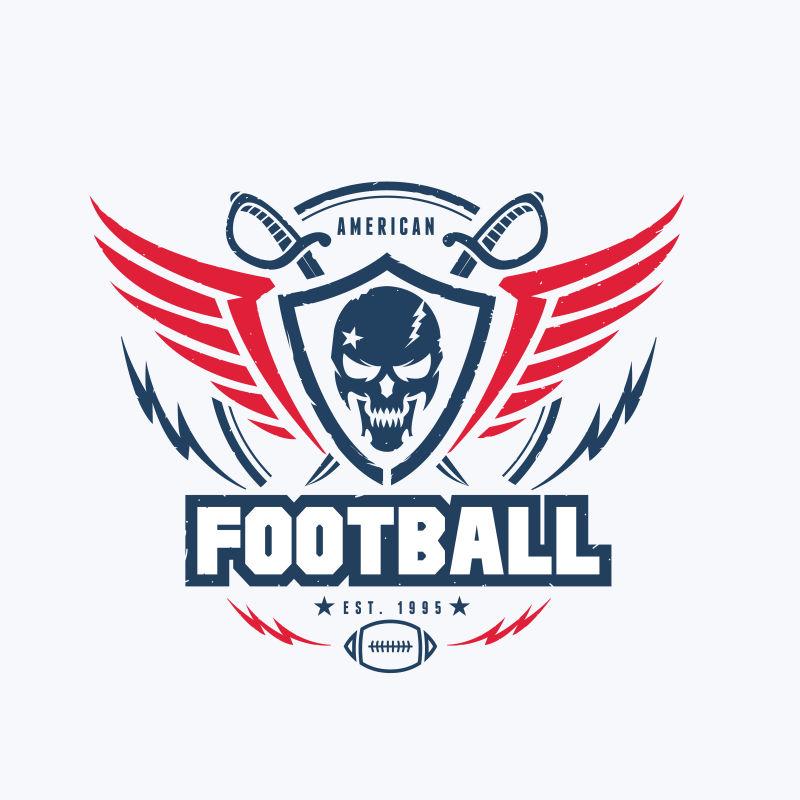 足球俱乐部创意徽章设计矢量图