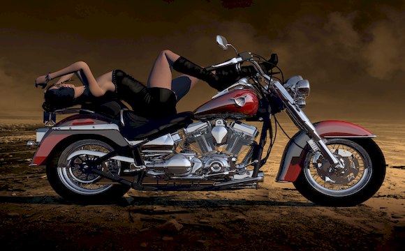 3D美女摩托车