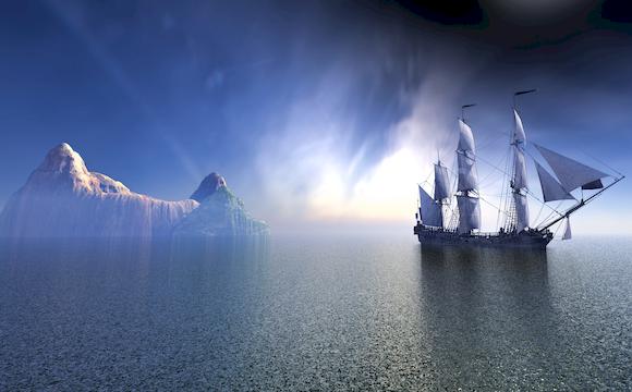 创意海上帆船